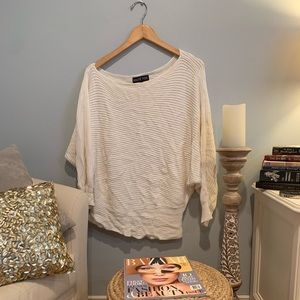 Sweaters - Creme Slouchy/Off the Shoulder Sweater